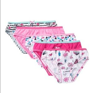 5 pack Betsey Johnson girls panties